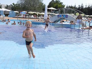 Dolle pret in het zwembad bij Ljubljana