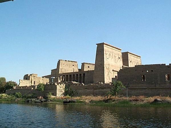 Tempels langs de Nijl in Egypte