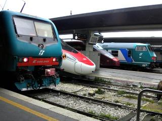 Verschillende internationale treinen
