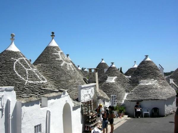 Trulli huisjes in Puglia