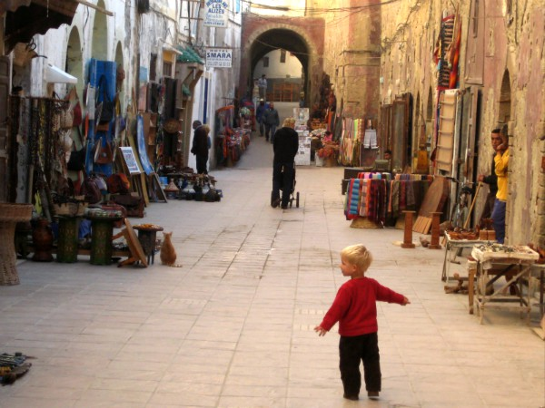 De prachtige binnenstad van Essaouira, Marokko