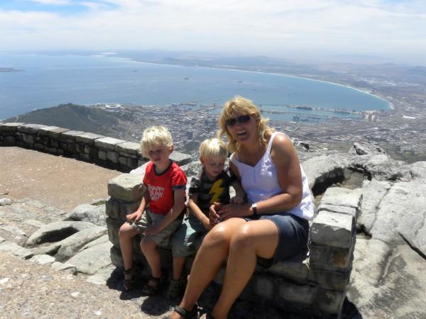 Op de tafelberg in Kaapstad, Zuid-Afrika