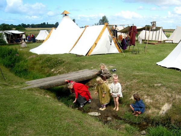 Vikingmarkt in Trelleborg in Seeland