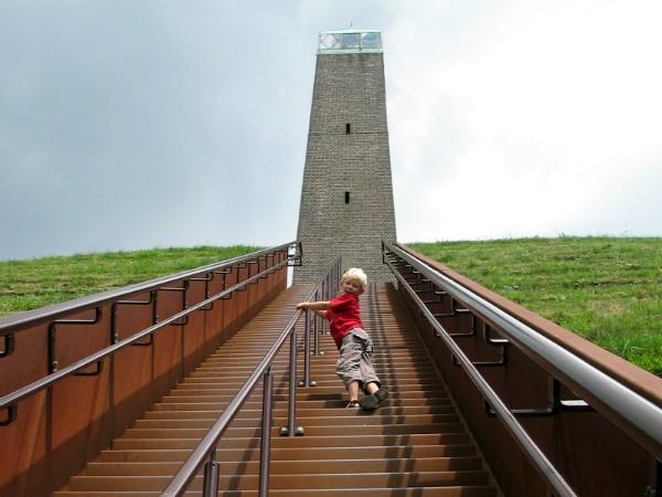 Het beklimmen van de pyramide van Austerlitz in de provincie Utrecht