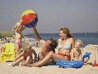 Heerlijk aan het strand