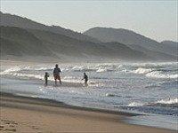 Aan het strand in Zuid-Afrika