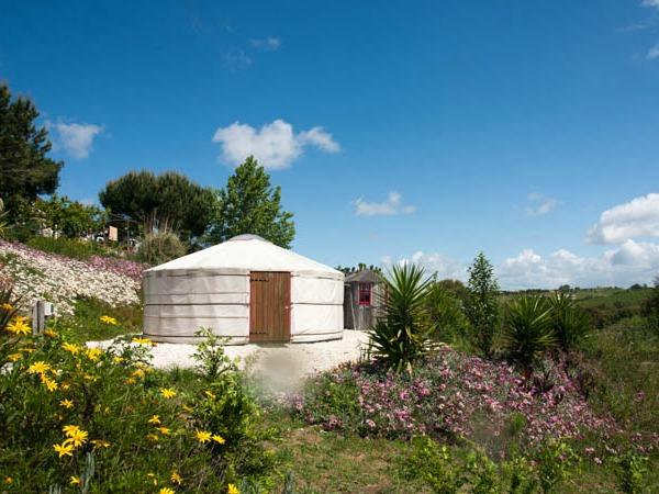 De Yurt met uitzicht over de vallei