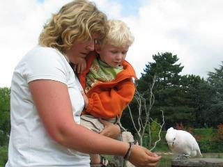 Met Zeb bij vogelpark Avifauna