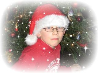 onze Zeb is al in de kerststemming