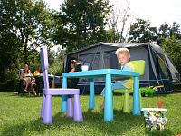 Op een veld van Camping de Wijde Blick