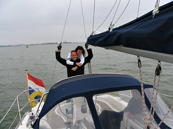 Eén van onze vele zeilvakanties, zowel in Nederland als daarbuiten