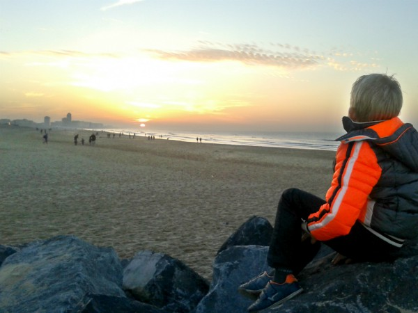 De Belgische kust in Oostende is ook in de winter nog erg mooi