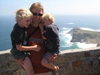 Harde wind bij de vuurtoren van Cape Point