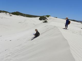 Rennen in de duinen bij De Hoop