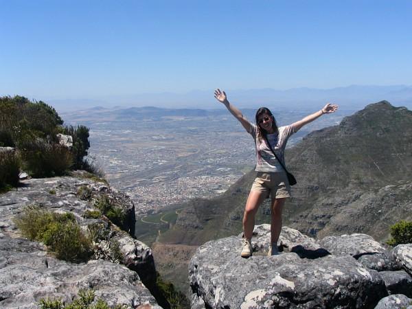Op de Tafelberg in Kaapstad mijn verjaardag gevierd!