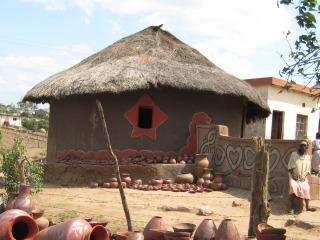 Traditioneel huis van de Venda-stam