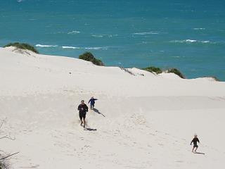 Rennen in de zandduinen van De Hoop