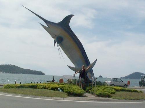 Even poseren bij Kota Kinabalu